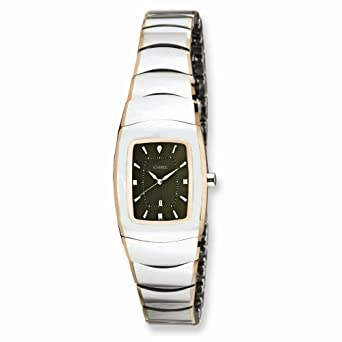 6c874c98aa4192 Image Unavailable. Image not available for. Color  Ladies Chisel Tungsten  With Rose Gold Plated Edge gray Watch
