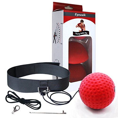 Boxing Reflex Ball Training Hand Eye Coordination with Headband and Gloves ,Portable Boxing Punch Ball to Improve Reaction and Speed for Training and ()