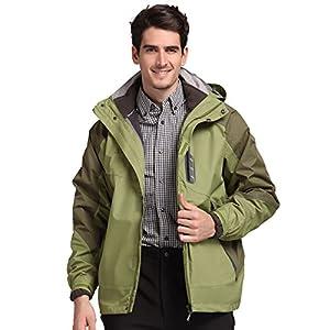 TFO Men's Jacket with Hood Waterproof Windproof Fleece Lined 3 in 1 Ski Hiking