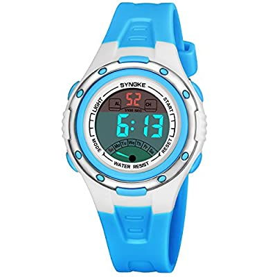 Kids Watch Sport Outdoor Electrical Digital Waterproof Young Teen Watches with Alarm Stopwatch Reminder Child Wristwatch for Age 4-16 Boys Girls from Meetyoo