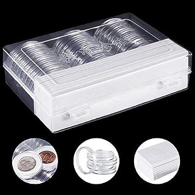 DECARETA 30 Pcs Cápsulas de Monedas Cajas de Plástico Redondas de 46 mm Estuches para Monedas Caja Organizadora para Monedas 46 mm /40 mm /32 mm /30 mm /27 mm / 25 mm /20.5 mm /17 mm: Amazon.es: Juguetes y juegos
