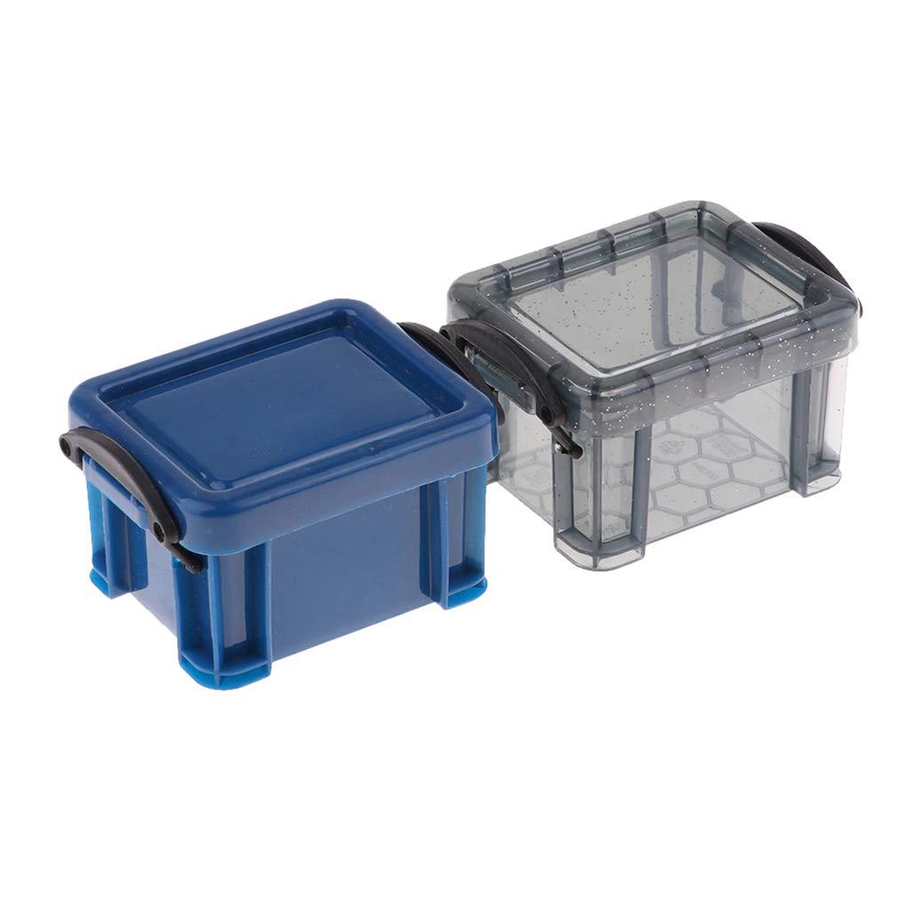 B Blesiya 2pcs Mini Bo/îtes de Rangement Empilables Unit/é de Stockage Multicolores Organisation de Bureau DIY 7,8 x 6,3 x 5cm Violet