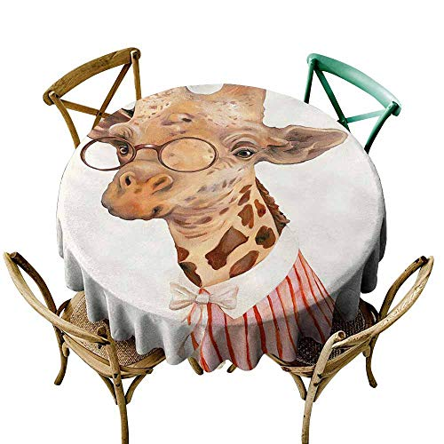 CAONM Tablecovers Round Odd costumed Animals, Funny, Cool (25) D70,for -