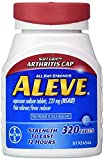 Aleve Pain Reliever Tablets, Arthritis Cap 2Pack (320 Count Each)