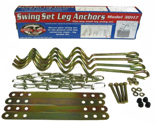 Flexible Flyer 30117 Ground Anchor Kit for Metal Frame Swing Sets