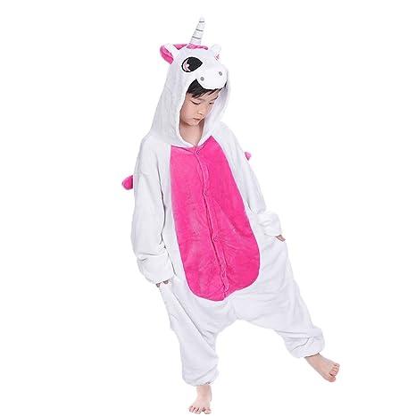 bellissimo aspetto arte squisita 100% di alta qualità JT-Amigo - Pigiama Tutina Costume Animale - Bambina e Bambino - Unicorno  Rosa, 6-8 Anni