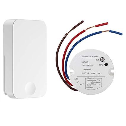 qiachip wireless wall light switch kit, rf transmitter remote