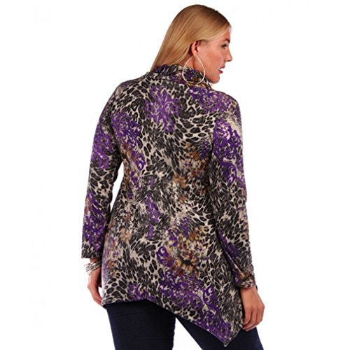 Temptation clothing plus size long sleeve blouse top shirt for Size 5x mens dress shirts