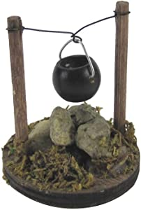 TG,LLC Treasure Gurus Mini Cooking Pot Fireplace Kettle Dollhouse Ornament Fairy Garden Supply Accessory