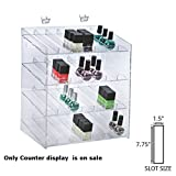 New 4-tiered Clear 28 Compartment Cosmetic Counter Display 12''W x 8.5''D x 14.5''H