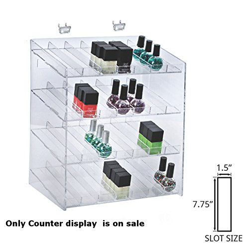 New 4-tiered Clear 28 Compartment Cosmetic Counter Display 12''W x 8.5''D x 14.5''H by Counter Display