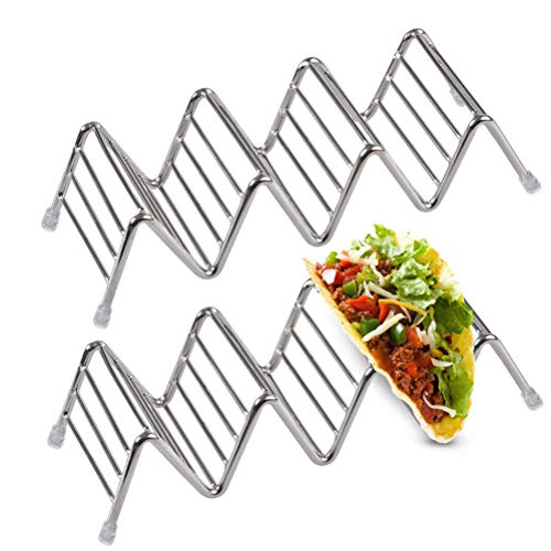 Amazon com: KALDOREI 4 Packs Taco Holder Stands, Stainless