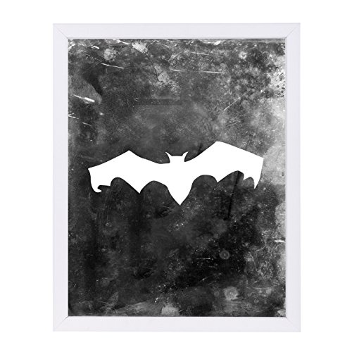 Americanflat Black Bat Halloween White Frame Print by Jetty Printables, 19