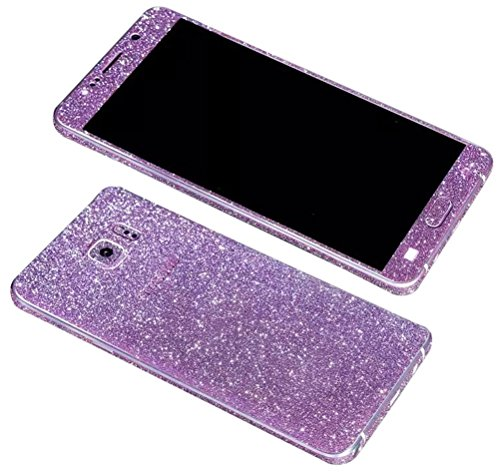 (Dreams Mall(TM)Bling Glitter Crystal Diamond Whole Body Protector Film Sticker for Samsung Galaxy Note 5-Purple )