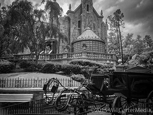 Walt Disney World Florida Halloween Party (Haunted Mansion Photograph, Walt Disney World. Orlando, Florida. Magic Kingdom. Creepy fine Art Print.)