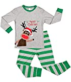 Sociala 4t Boys Long Sleeve Pajamas Kids Christmas Pjs Cotton Sleepwear Green
