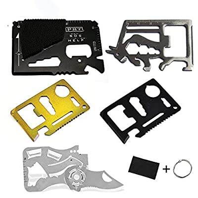 Credit Card Multitool Pocket Tool Kit Stainless Steel Wallet Survival Tool with folding EDC Knife, Multi Tool Accessories in Blocking Case(6 PACK) from Kamoso