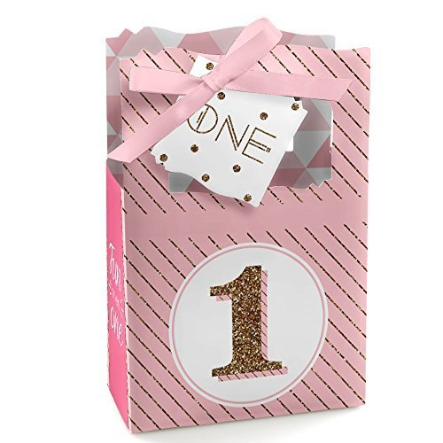 1st Birthday Girl - Fun to be One - Birthday Party Favor Boxes - Set of 12 (Birthday Party Favors Boxes compare prices)