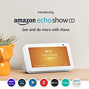 "Introducing Echo Show 5 - See and do more with Alexa on 5.5"" screen (White)"