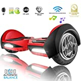 XPRIT 8' Self-Balancing Hoverboard Outdoor and Street Type w/Bluetooth Speaker (RED)
