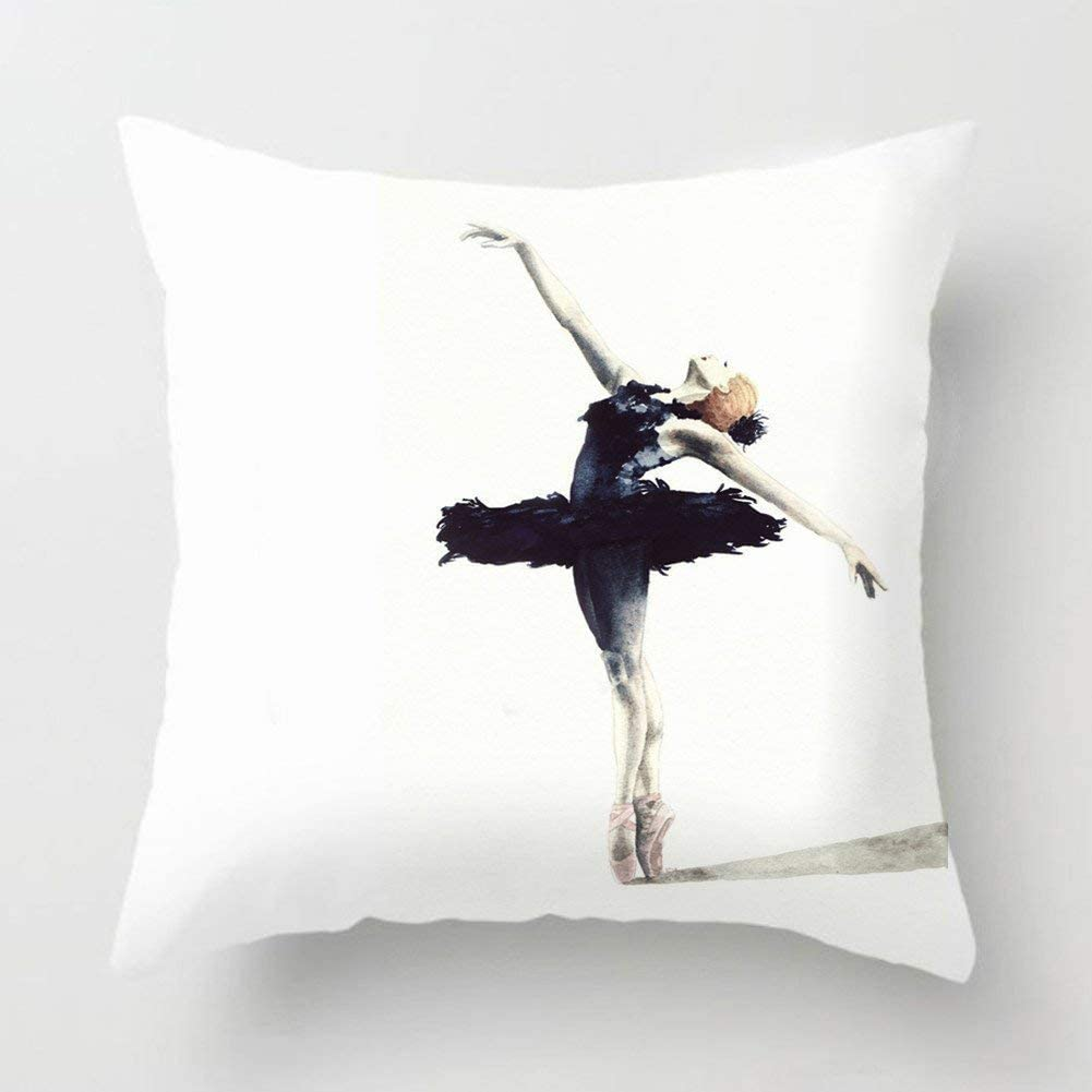 XLABDZ Fashion Decorative Watercolor Beautiful Ballet Dancer Super ...