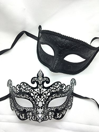 New Couple Lover Mask Mardi Gras Venetian Halloween Ball Prom Masquerade Mask by QJ