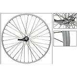 Wheel Master KT-305 Coaster Brake Rear Wheel 26 x 1.75/2.125, Silver, Alloy, 14g SS Spokes, w/ Trim Kit