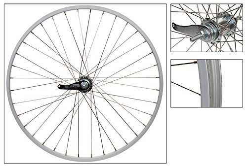Wheel Master KT 305 Coaster Brake Rear Wheel 26 x 1.75/2.125, Silver, Alloy, 14g SS Spokes, w/ Trim Kit