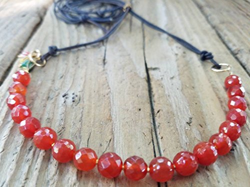 Carnelian and 24K Gold Vermeil Necklace
