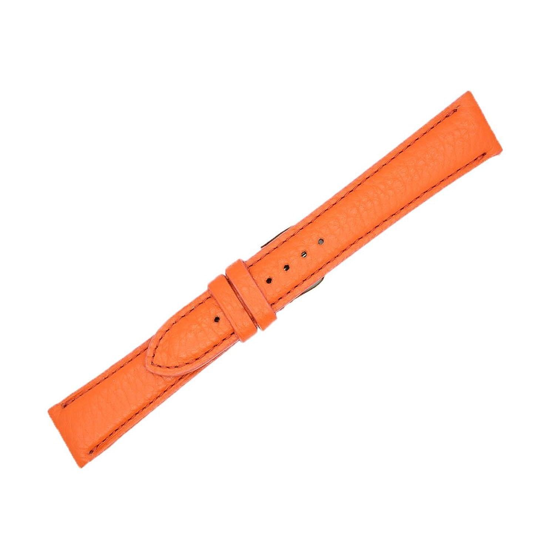 18 mmオレンジGenuineレザー交換用時計ストラップバンドMade in USA ws202  B06XN5ZTB4