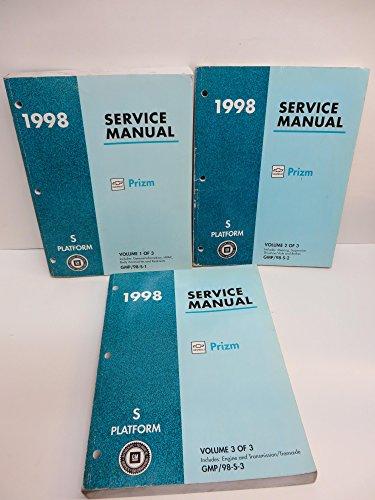 Chevrolet Prizm 1998 Service Manual 3 Volumes