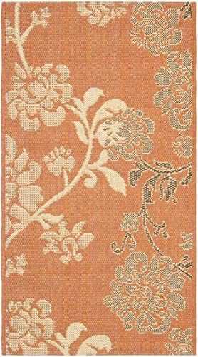Safavieh Courtyard Collection CY4027C Terra Natural and Brown Indoor Outdoor Area Rug 2 x 3 7