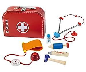 Selecta Spielzeug 5260 - Maletín de médico para niños, color rojo [importado de Alemania]