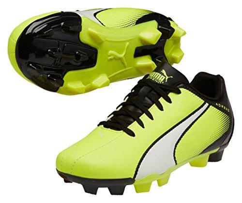 (PUMA Adreno Firm Ground JR Soccer Shoe (Little Kid/Big Kid) , Safety Yellow/White/Black, 6 M US Big Kid)