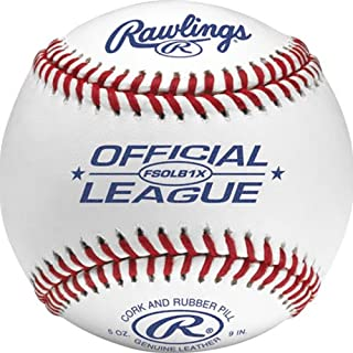 Rawlings FSOLB1x cuciture piatte per la pratica confezione palla da baseball 12, White