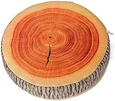 Amazon.com: Cojín redondo para silla de madera con forma de ...