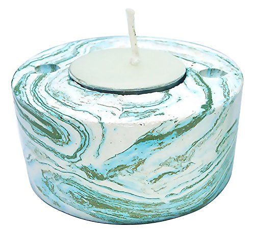 Aromatherapy Essential oil Tea Light Candle Holder Stone Diffuser Size L (Blue-Green-Lavender)