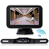 Wireless Backup Camera with Monitor System 5'' LCD Wireless Monitor Rearview Revering Rear View Back up Camera for Backing Parking Car Vehicle E5 eRapta