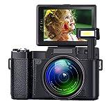 SEREE Digital Camera Camcorder Full HD 1080P 24 Megapixels Vlogging Camera 4X Digital Zoom Retractable Flash Light 3 inch Screen