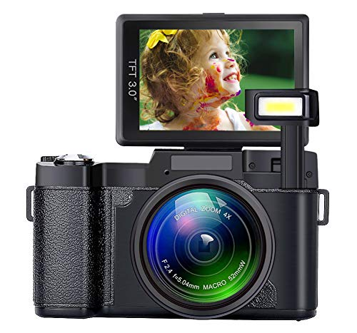 Digital Camera Seree Video Cameras 4X Digital Zoom Vlogging Camera Point and Shoot Digital Cameras 24MP Blogging Camera Selfie Camera with Flip Screen for Kids/Beginners/Elders