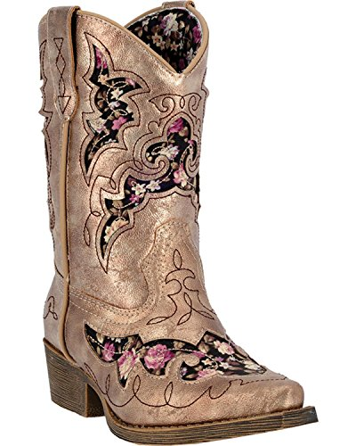 Laredo Kid's Underlays Cowboy Gold Casual Boot 9.5 D
