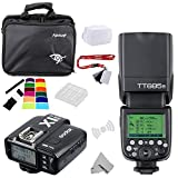 Fomito Godox TT685N I-TTL II 2.4GHz Wireless Master / External Camera AutoFlash Speedlight & X1T-N Transmitter Trigger HSS for Nikon D810 D800E D7200 D60 D5500 DSLR Cameras, SB900 SB910 flashes