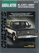 chevrolet blazer and jimmy 1969 82 chilton total car care series rh amazon com 1968 Blazer 1973 Blazer