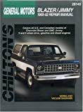 Chevrolet Blazer and Jimmy, 1969-82, Chilton Automotive Editorial Staff, 0801990777