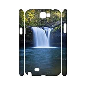 3D Samsung Galaxy Note 2 Cases Coquille Falls for Girls Protective, Samsung Galaxy Note 2 Cases for Girls Protective [White]