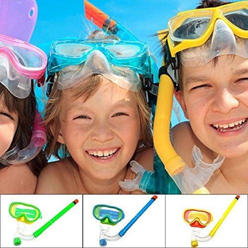 B01FJ7SZLY YITU Kids Silicone Scuba Swimming Swim Diving Mask Snorkel Glasses Set Anti Fog Goggles 41li5ElXynL