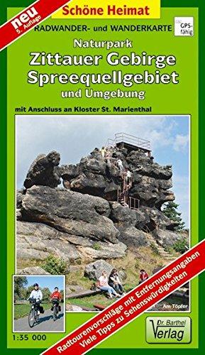 Doktor Barthel Wander- und Radwanderkarten, Zittauer Gebirge, Spreequellgebiet und Umgebung (Schöne Heimat)