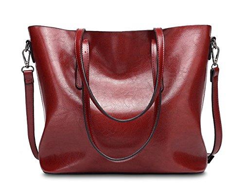 D spalla di Tibes impermeabile sintetica pelle borsetta Moda Nero D Nero sacchetto 8ATTxw6q