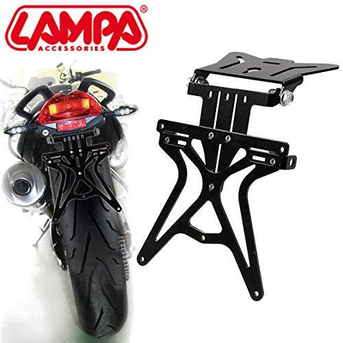 l/ámpara Aero-X para Moto Yamaha Portamatr/ícula Universal Totalmente Ajustable de Aluminio Negro
