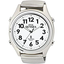 ATOMIC! Talking Watch - Sets Itself FIVE SENSES unisex Talking Watch (SENS-RCTK-P201-12)(M104)